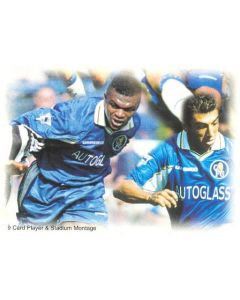 Chelsea card of 1999 featuring Marcel Desailly and Roberto di Matteo