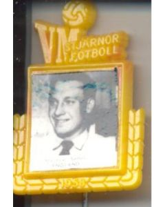 Maurice Setters England World Cup 1958 Badge Yellow