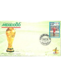 1986 World Cup in Mexico first day cover 07/05/1986 in green