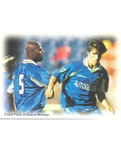 Chelsea card of 1999 featuring Michael Duberry and Gianfranco Zola