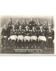 Middlesbrough team photograph postcard