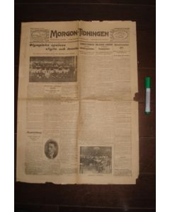 1912 Morgon-Tidningen - Swedish newspaper 04/07/1912 covering the Olympics