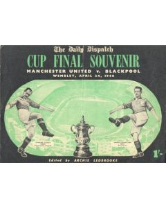 1948 Manchester United v Blackpool The Daily Dispatch programme 24/04/1948 FA Cup Final at Wembley