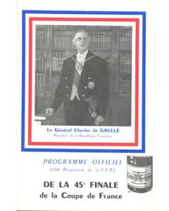 1962 Nancy v Saint-Etienne official programme 13/05/1962 the 45th Final of the Cup of France