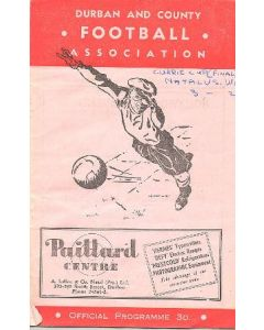 1952 Natal v South Western province, South Africa, Currie Cup Final 27/09/1952