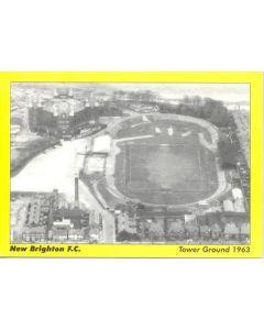 New Brighton FC Tower Ground 1963 postcard