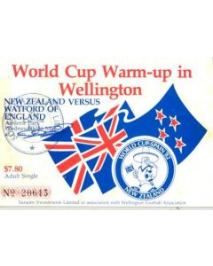 1982 World Cup in Spain - World Cup warm-up match in Wellongton - New Zealand v Watford ticket