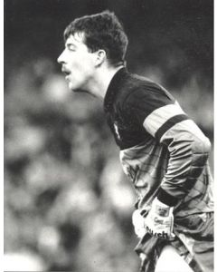 Nigel Martyn - Crystal Palace goalkeeper - black and white photograph of November 1989
