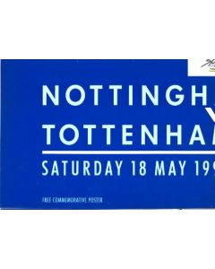 1991 FA Cup Final Nottingham Forest v Tottenham Hotspur large commemorative poster of 18/05/1991