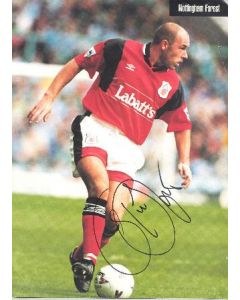 Nottingham Forest unknown footballer's signed colour photograph