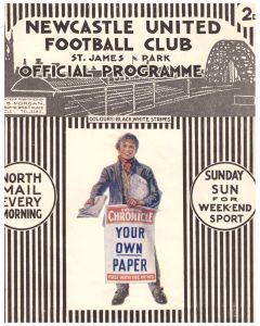 1929 Newcastle United V Blackburn Rovers Official programme
