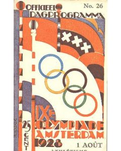 1928 IX. Olympic Games in Amsterdam official programme 01/08/1928