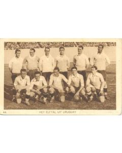 1928 IX. Olympic Games in Amsterdam postcard, featuring the Uruguay Football Team