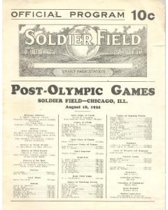 1932 Post-Olympic Games Soldier Field Chicago, Illinois, USA 18/08/1932