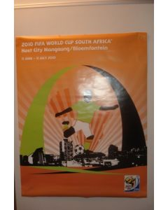 2010 World Cup South Africa Poster Host City Bloemfontein