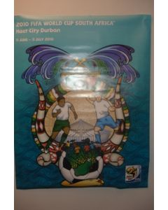 2010 World Cup South Africa Poster Host City Durban