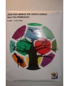 2010 World Cup South Africa Poster Host City Polokwane