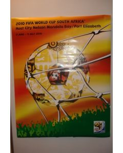 2010 World Cup South Africa Poster Host City Port Elizabeth