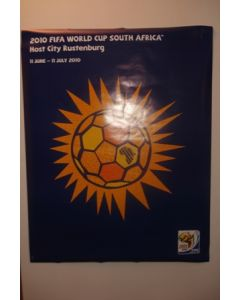 2010 World Cup South Africa Poster Host City Rustenburg