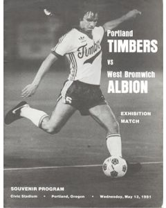 In USA - Portland Timbers v West Bromwich Albion official football programme