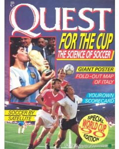 1990 World Cup - Quest for the Cup brochure with a Teams in the Finals poster