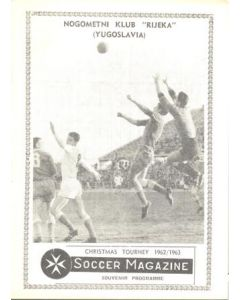 1962 Rijeka Yugoslavia at The Christmas Tourney in Malta official programme Chtistmas 1962
