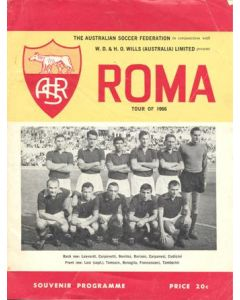 1966 Victorian State X1 v Roma Official Programme