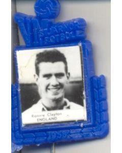 Ronnie Clayton England World Cup 1958 Badge Blue