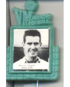 Ronnie Clayton England World Cup 1958 Badge Green
