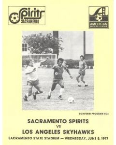 1977 Sacramento Spirits v Los Angeles Skyhawks official programme 08/06/1977