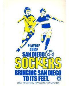 1981 San Diego Sockers v Jacksonville Tea Men official programme