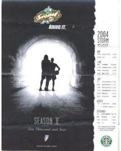 2004 Seattle Storm v Houston Comets official programme 24/07/2004