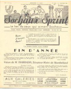 1956 Sochaux, France Official Programme Sochaux Sprint of 01/01/1956