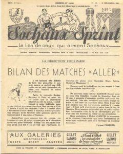 1955 Sochaux, France Official Programme Sochaux Sprint of 18/12/1955