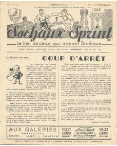 1955 Sochaux, France Official Programme Sochaux Sprint of 25/09/1955