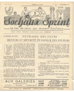 1955 Sochaux, France Official Programme Sochaux Sprint of 04/09/1955