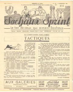 1955 Sochaux, France Official Programme Sochaux Sprint of 04/12/1955