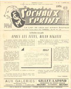 1957 Sochaux, France Official Programme Sochaux Sprint of 06/01/1957