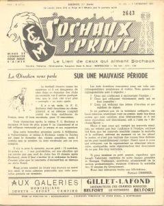 1956 Sochaux, France Official Programme Sochaux Sprint of 09/12/1956