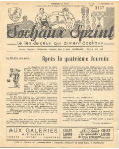 1955 Sochaux, France Official Programme Sochaux Sprint of 18/09/1955