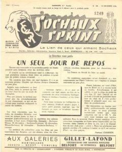 1956 Sochaux, France Official Programme Sochaux Sprint of 25/12/1956