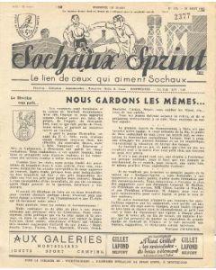 1955 Sochaux, France Official Programme Sochaux Sprint of 28/08/1955