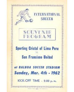 sporting Cristal v San Francisco Football Programme