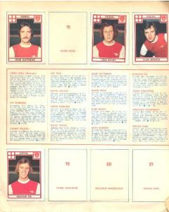 A large Sicker Collection of all large British teams of 1970's, 62 pages