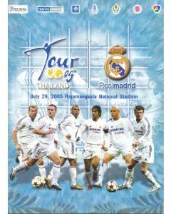 2005 Thailand v Real Madrid official programme 29/07/2005