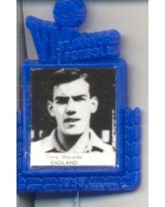 Tony Macedo England World Cup 1958 Badge Blue
