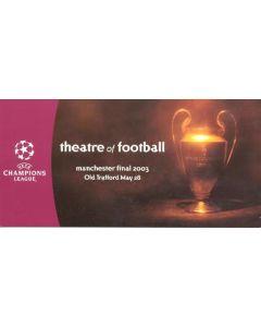 2003 Official Champions League Postcard 28/05/2003