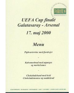 2000 Uefa Cup Final Parken Stadium Edition menu
