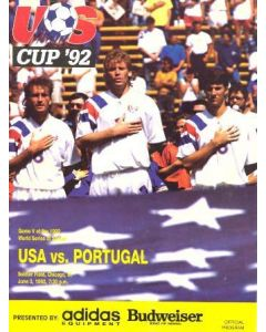 1992 USA v Portugal official programme 03/06/1992 US Cup 1992