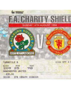 1994 Charity Shield Official Programme Manchester United v Blackburn